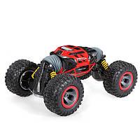 Трюковая машина перевертыш Hyper Big Foot 34 см на пульте управления красная