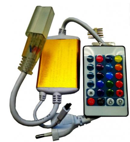 RGB контроллер для ленты 220В с ИК пультом д/у 1200W, фото 2