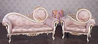 """Комплект мебели в стиле Барокко """"Софа"""", итальянский диван и кресло, под заказ от производителя"""