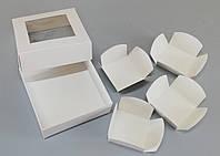 Вставки для конфет в картонную коробку 110*110*37 мелованная