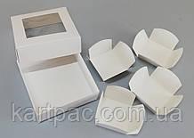 Вставки в коробку мелованные 110*110*37