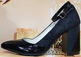 Туфли черные женские на высоком каблуке от производителя модель КЛ9011-8, фото 2