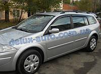 Ветровики Cobra Tuning на авто Renault Megane II Wagon 5d 2002-2008 Дефлекторы окон Кобра для Рено Мегане 2