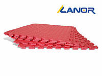 Мягкий пол пазл Lanor (500*500*10мм) Красный, фото 1