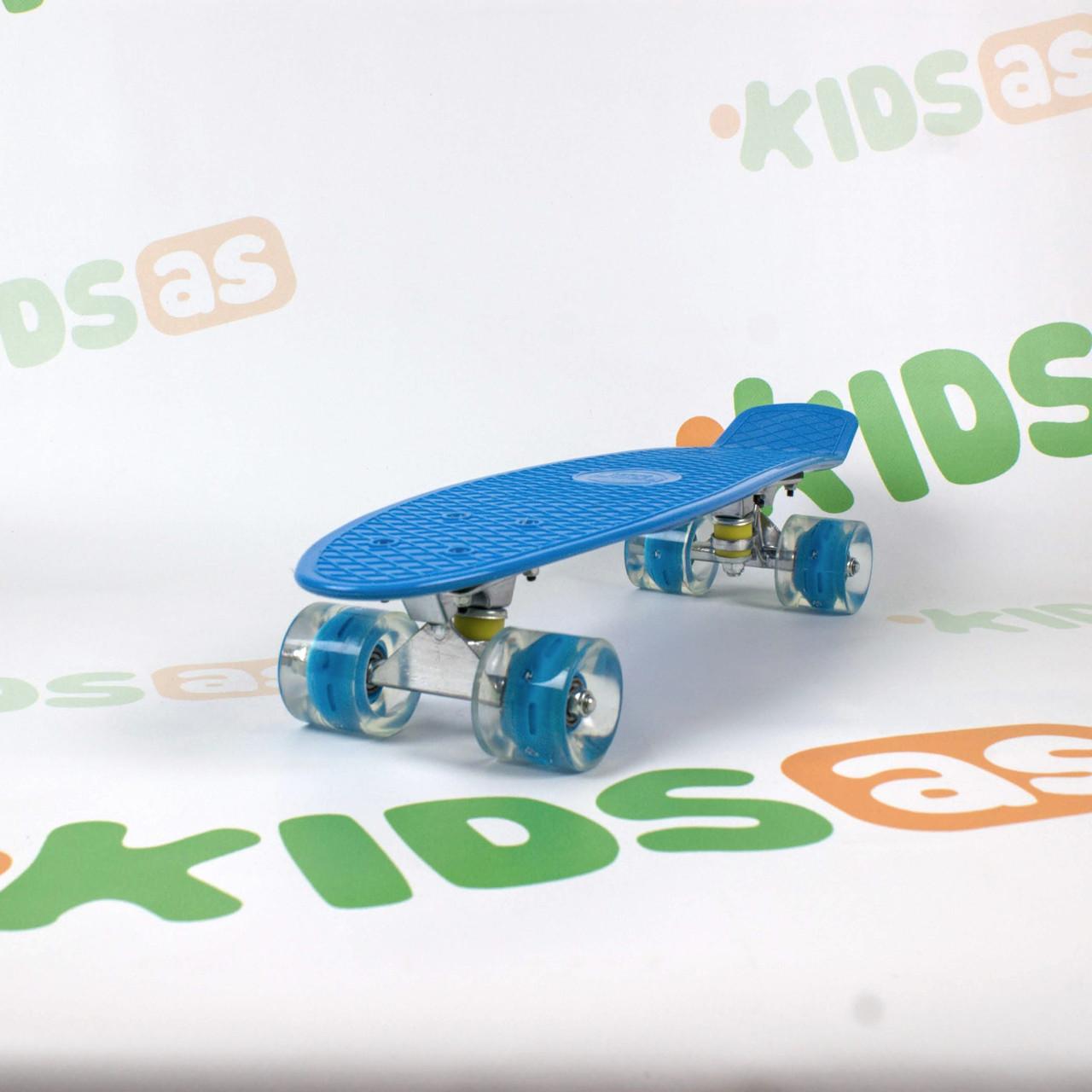 Скейт MS 0848-5 Darck Blue Penny Board свет колес