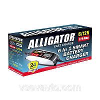 Интеллектуальное зарядное устройство Alligator AC812 4А, 6-12V импульсное автомат