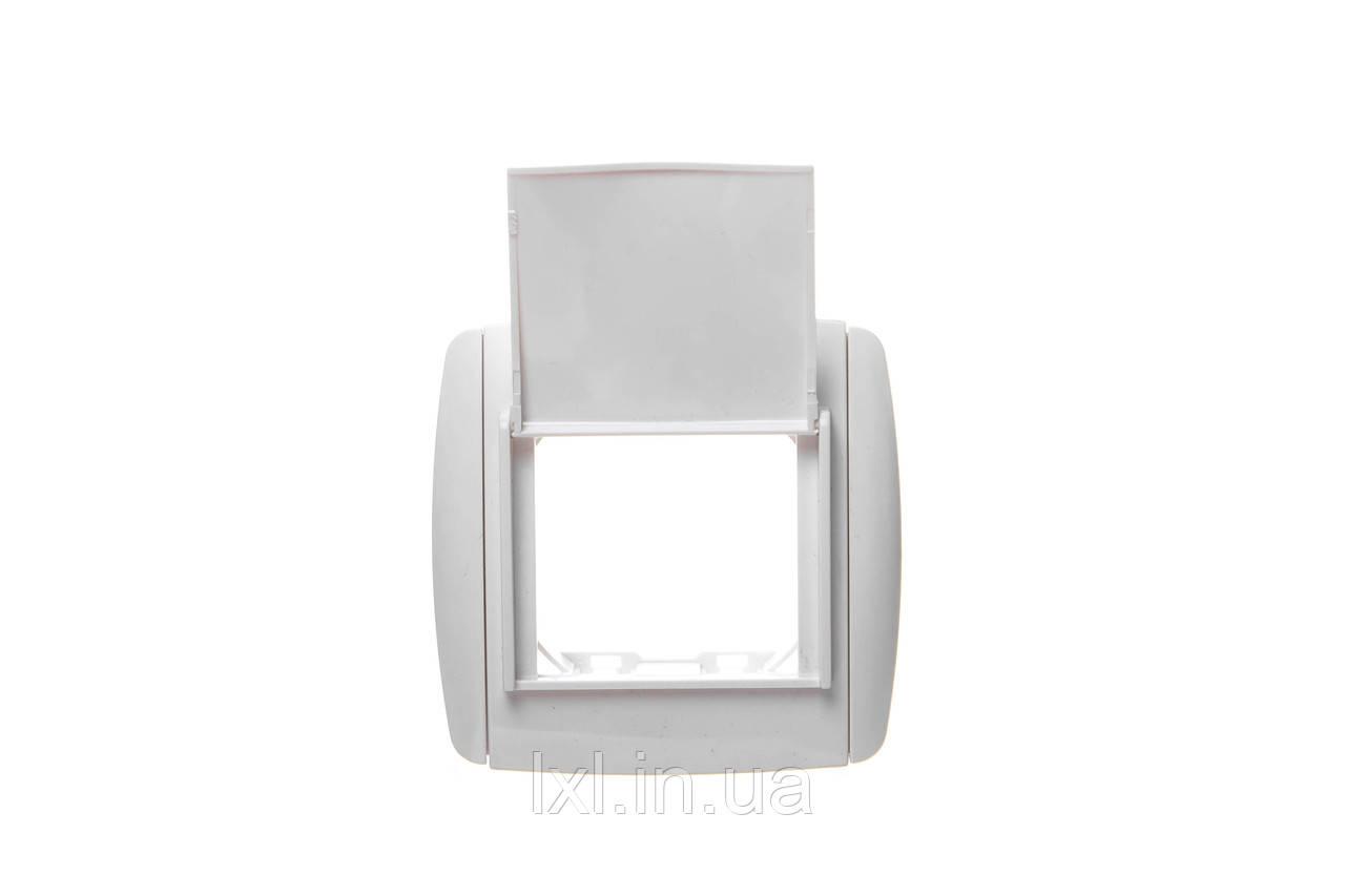 0729   LXL  SIRIUS  біла Рамка 1 місце з кришкою   квадратна