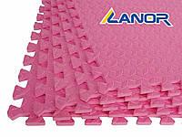 Мягкий пол пазл Lanor (500*500*10мм) Розовый, фото 1