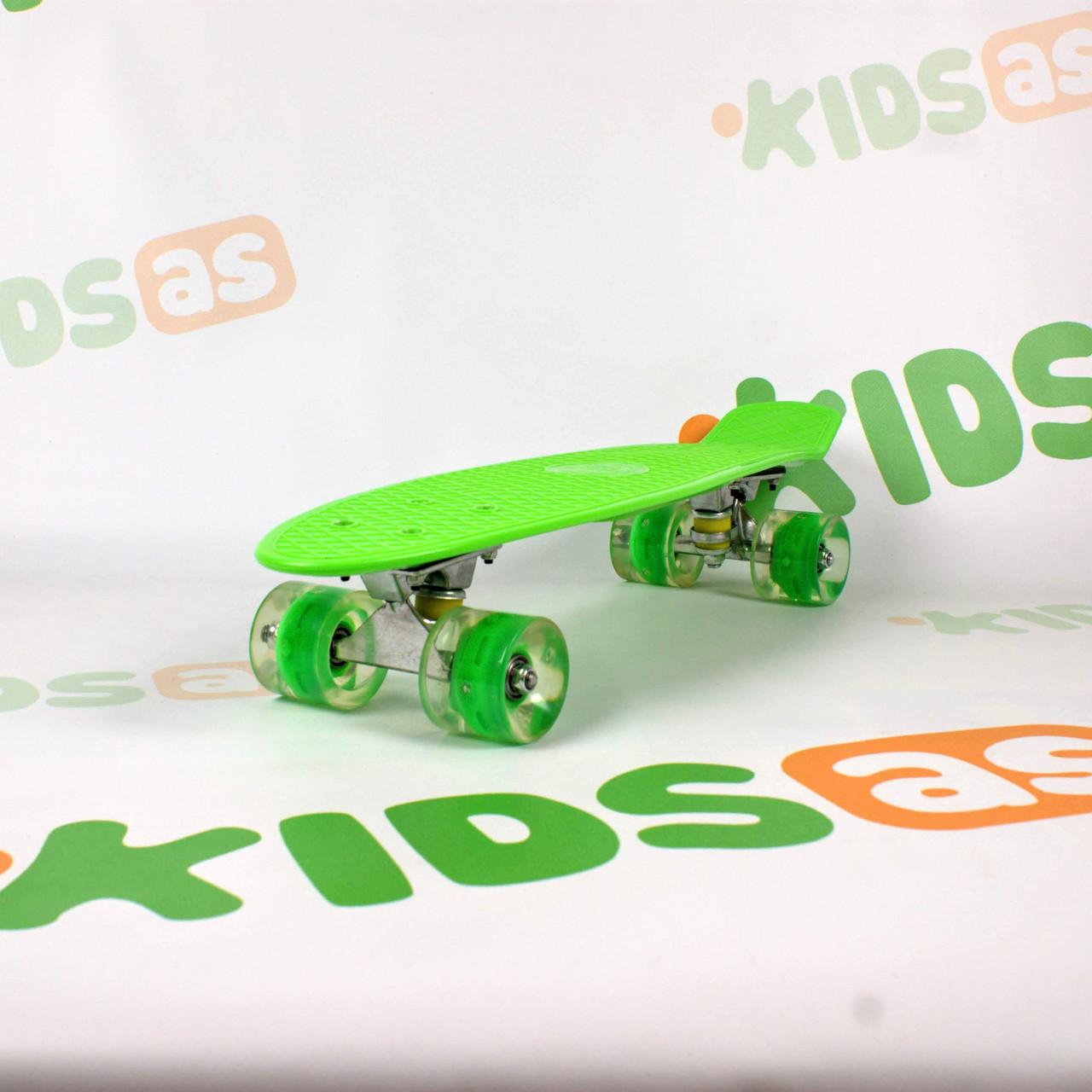 Скейт MS 0848-5 Green Penny Board свет колес