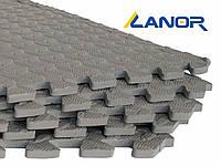 Мягкий пол пазл Lanor (500*500*10мм) Серый, фото 1