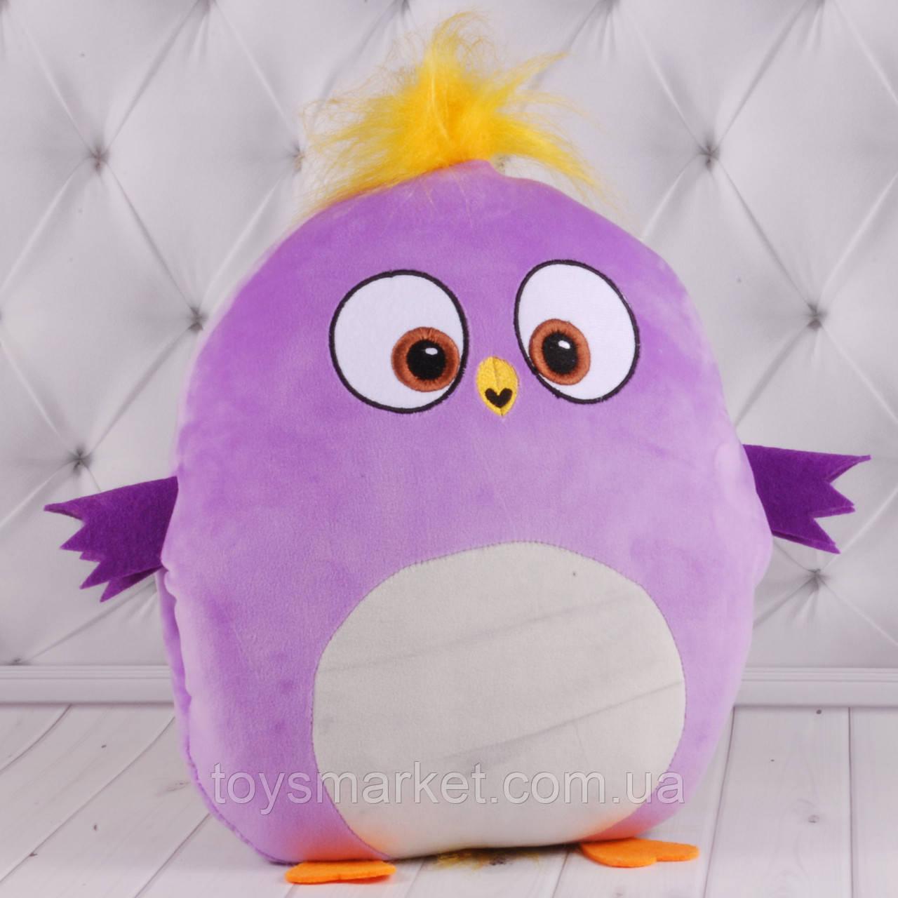 """Детская подушка-муфта """"Angry Birds 1"""", плюшевая подушка с птичками, подушка-муфта, """"Энгри Бердс"""""""
