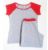 """Комплект спальный женский бриджи с футболкой P 05 """"Ego"""" 95% хлопок цвет серый"""
