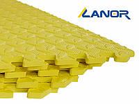 Мягкий пол пазл Lanor (500*500*10мм) Желтый, фото 1