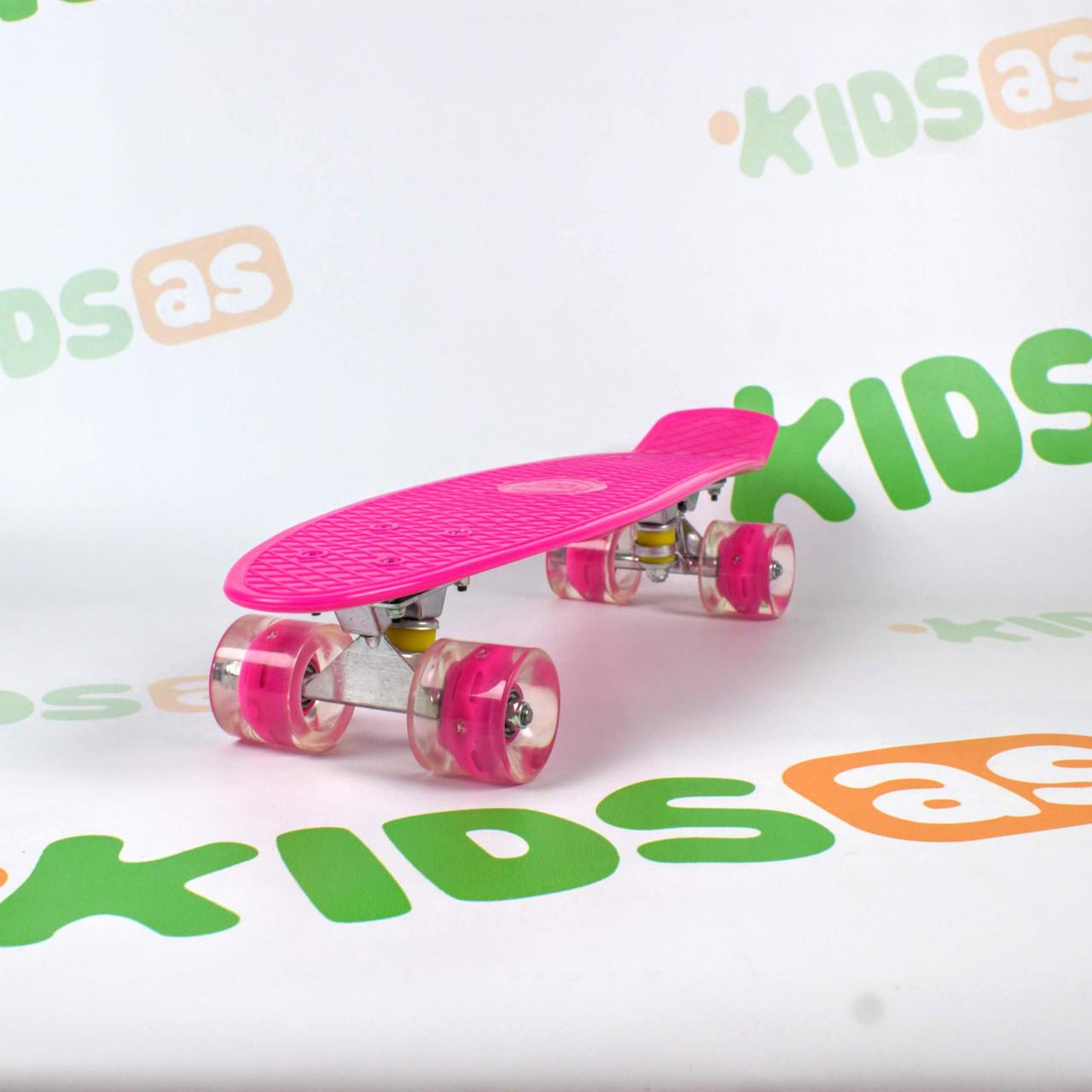 Скейт MS 0848-5 Rose Penny Board свет колес