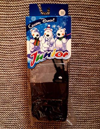 Махровые колготы детские серого цвета ТМ Jnnior (Украина)  размер 140 146, фото 2