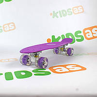 Скейт MS 0848-5 Violet Penny Board свет колес