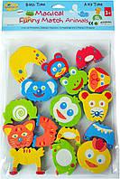 """Дитячі аква-пазли BabyGreat """"Кумедні тваринки"""", 8 іграшок, GB-FM8B"""