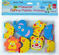 """Дитячі аква-пазли BabyGreat """"Кумедні тваринки"""",4 іграшки, GB-FM4A"""