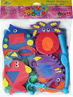 """Дитячі аква-пазли BabyGreat """"Морські мешканці та фігури"""", 9 іграшок, GB-7624"""