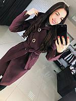 Женское кашемировое пальто с капюшоном  от 42 до 52 размера РАЗНЫЕ ЦВЕТА