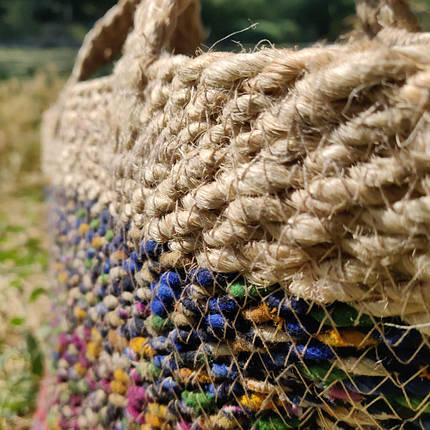 Сумка-корзина джутовая, фото 2