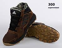 Коричневые кожаные ботинки Adidas