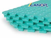Мягкий пол пазл Lanor (500*500*10мм) Бирюзовый, фото 1