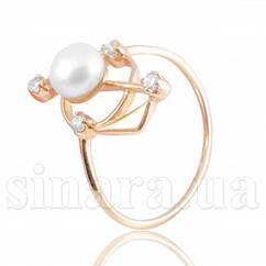 Золотое кольцо с жемчугом 6223ж