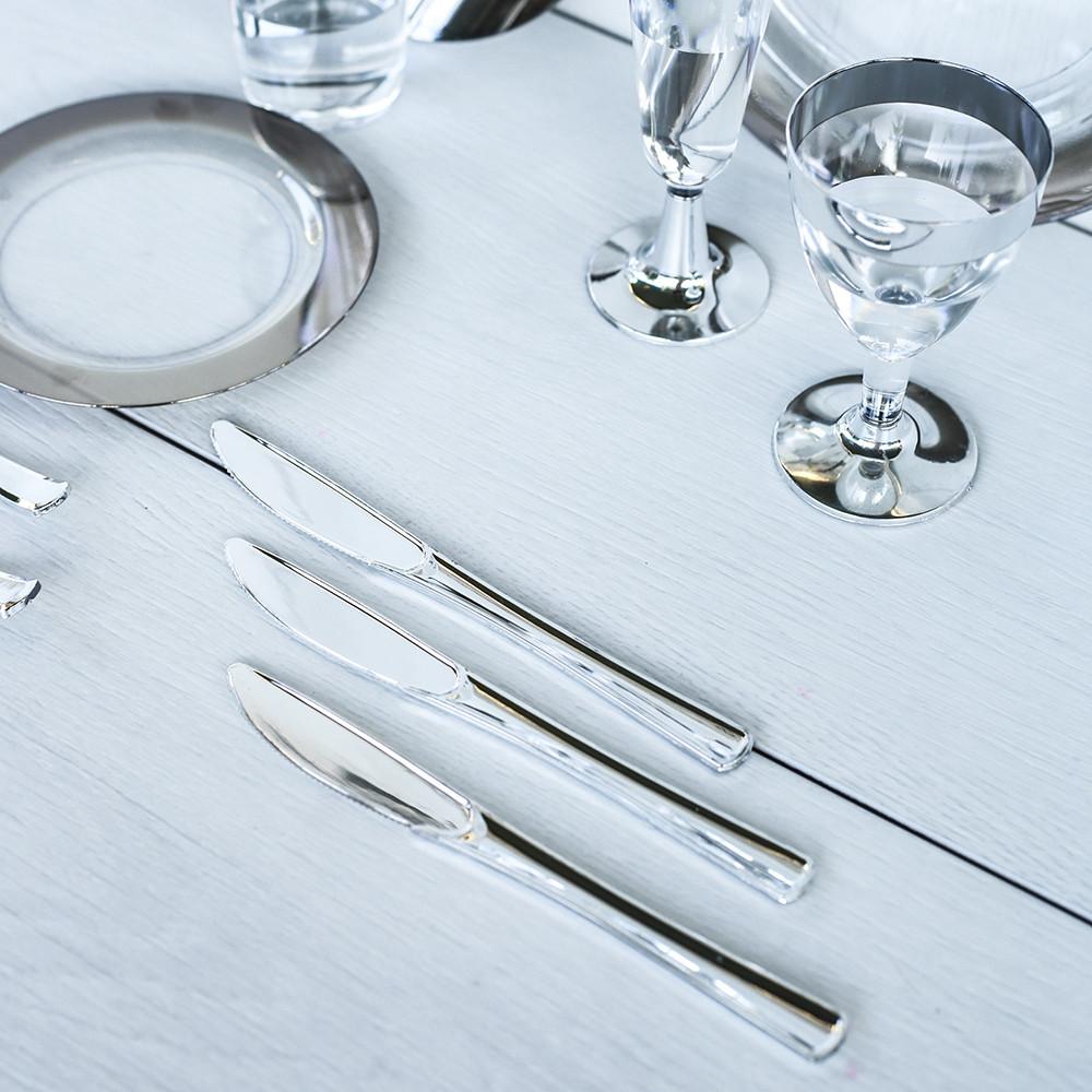 Ножи стекловидные, не гнутся для презентации выставки party. Входит в сервировку стола. CFP 12 шт 200 мм.