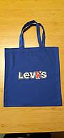 Сумка Levi's сумка-тоут, сумка для покупок, эко сумка вместительная с вышивкой логотипа.