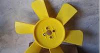 Вентилятор системы охлаждения (крыльчатка) Газель,Соболь 6 лопастной желтый (производство г.Херсон)
