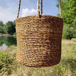 Кашпо плетеное (подвесное)