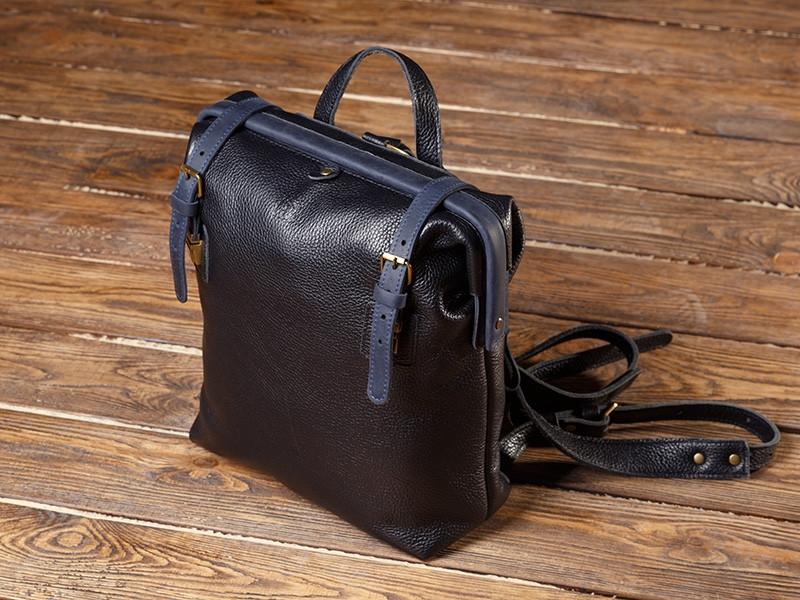 """Рюкзак мужской кожаный на раме """"Mone"""""""