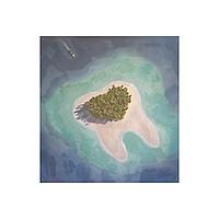 "Картина ""Зубной остров"", 500 х 500 мм, масло"