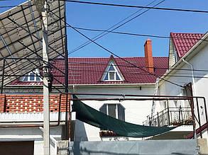 Монтаж профилей на крышу частного дома.