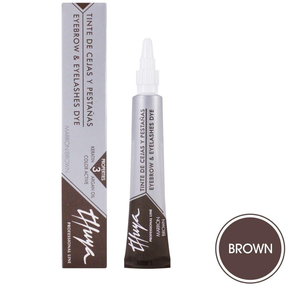 Краска для бровей и ресниц коричневая Thuya 14 мл
