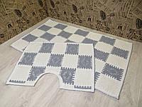 Набор ковриков для ванной и туалета. Хлопок. (Турция), фото 1