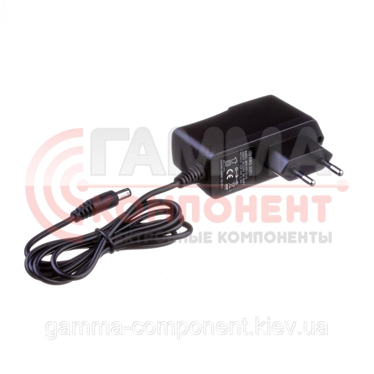 Блок питания 12В 1А 12Вт с кабелем питания (розеточный) IP20