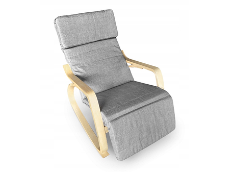 Кресло качалка Lucaro Natural, 120кг, фото 2