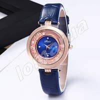 Женские кварцевые часы с камнями Blue