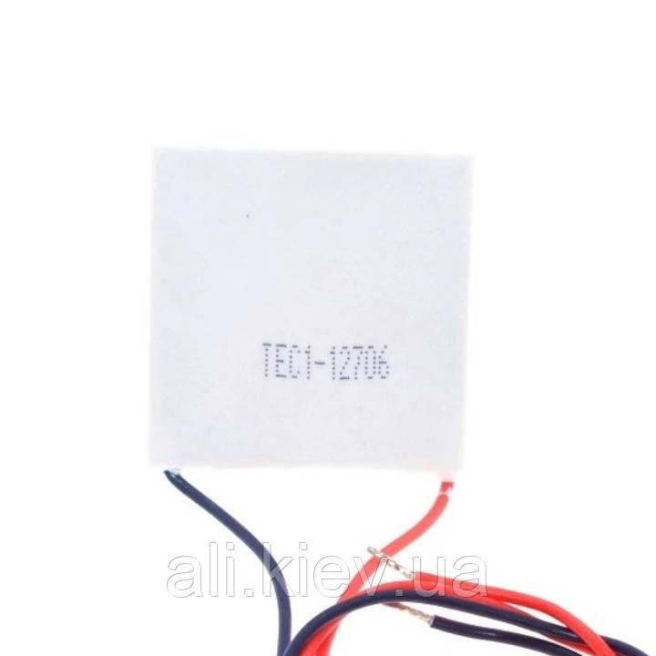Элемент Пельтье 12V 6A TEC Термоелектричний нагрівач -охолоджувач Peltier TEC1-12706