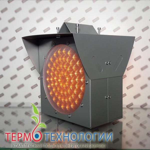 Светодиодный сигнальный светофор Pharos двусторонний, цвет жёлтый, 200 мм, 24 В