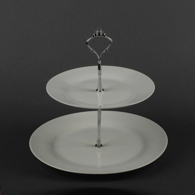 Фруктовница керамическая двухъярусная диаметры 210мм, 275мм