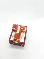 """(Распродажа) Набор ювелирный с натуральным камнем сердолик"""" Парус"""", фото 1"""