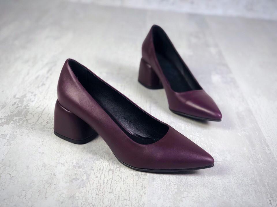 Шикарные кожаные туфли на каблучке 36-40 р слива