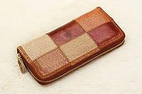 Кошелек клатч женский кожаный стильный с отделом для телефона