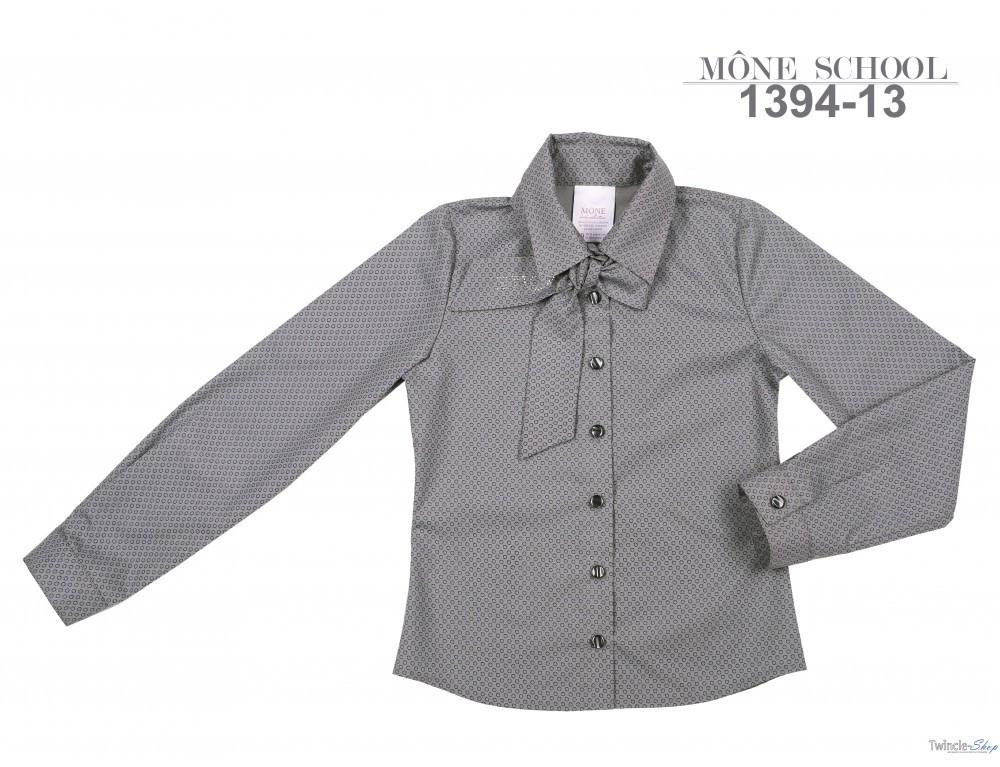 Школьная блузка для девочки Школьная форма для девочек MONE Украина 1394-13 Серый