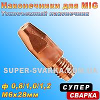 Наконечник токосъемный E-Cu M6x28