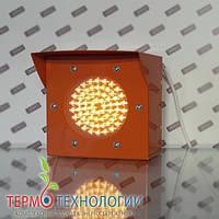Светодиодный сигнальный светофор Pharos, цвет жёлтый, 120 мм, 24 В