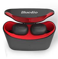 Наушники вакуумные беспроводные Bluedio T-elf  с микрофоном (красные)